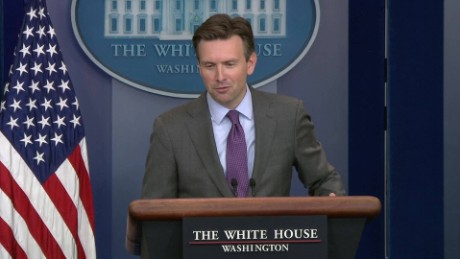wh press secretary josh earnest talks about hack _00004516.jpg