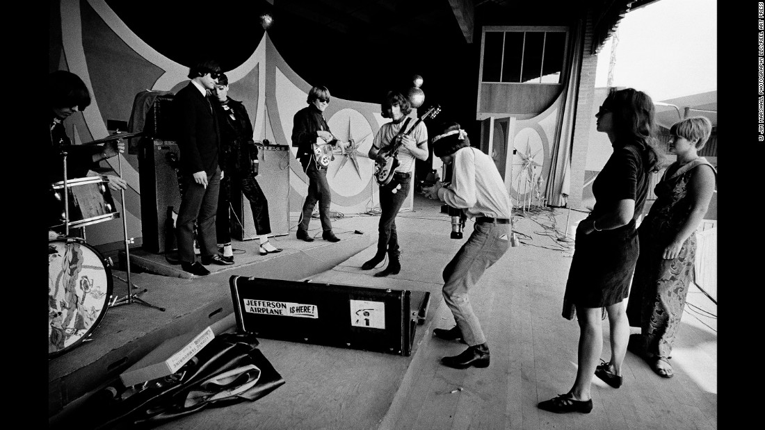 The rock group Jefferson Airplane at Monterey in 1966. It was a sign of the changing times -- jazz would soon be eclipsed by rock.