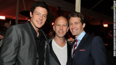 "Actor Cory Monteith, cretor Ryan Murphy, and actor Matthew Morrison attend Fox's ""Glee"" spring premiere soiree held at Bar Marmont on April 12, 2010 in Los Angeles, California. (Photo by Kevin Winter/Getty Images)"
