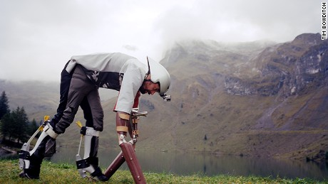 Thomas Thwaites decided to live like a goat in the Alps for three days.