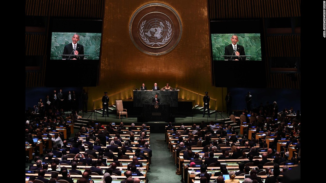 """President Barack Obama <a href=""""http://www.cnn.com/2016/09/20/politics/barack-obama-un-diplomacy/"""" target=""""_blank"""">addresses the UN General Assembly for the final time</a> on Tuesday, September 20."""