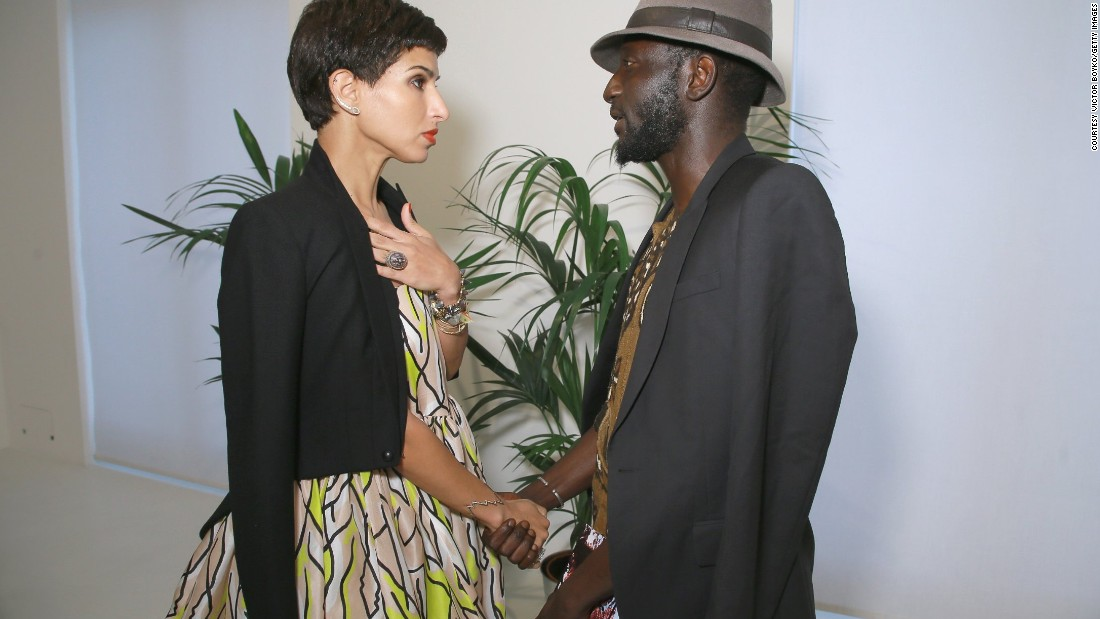 His name may not be instantly familiar but Jenke Ahmed Tailly has been quietly working behind the fashion industry's most high stakes shoots. He is stylist to Beyoncé, Kanye West and more recently Kim Kardashian. <br />Pictured - Princess Deena al Juhani Abdulaziz and Jenke Ahmed Tailly attend Venyx new collection cocktail launch as part of Paris Fashion Week.