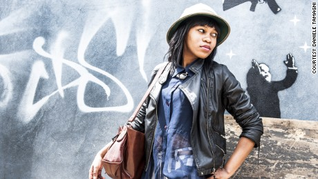 Lebogang from fashion collective the Smarteez, Joburg style Battles 2, photographed by Daniele Tamagni.