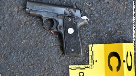 A gun found in Keith Scott's possession, according to Charlotte-Mecklenburg Police.
