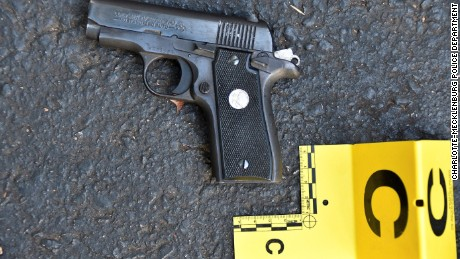 An image of a gun that was in possession of Keith Scott, according to the Charlotte-Mecklenburg Police Department. 