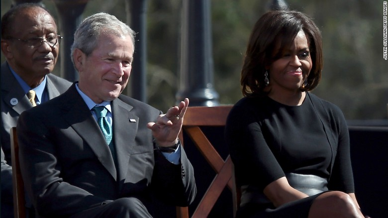 The friendship of George W. Bush and Michelle Obama - THE ...