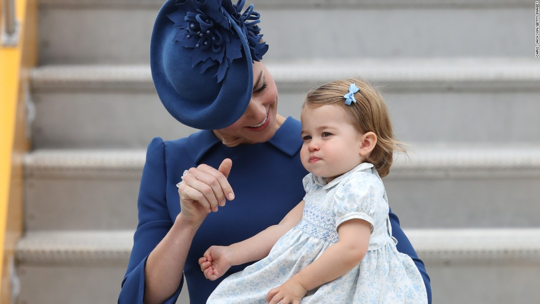 The Canadian visit marks the first international tour for Princess Charlotte.