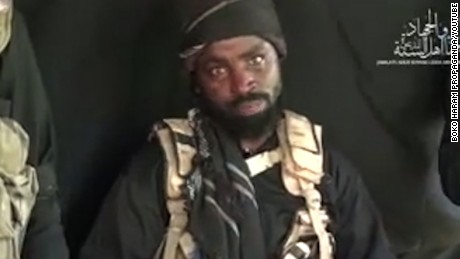 A still from a Boko Haram propaganda video showing embattled leader Abubakar Shekau. Dated September 25th, 2016.