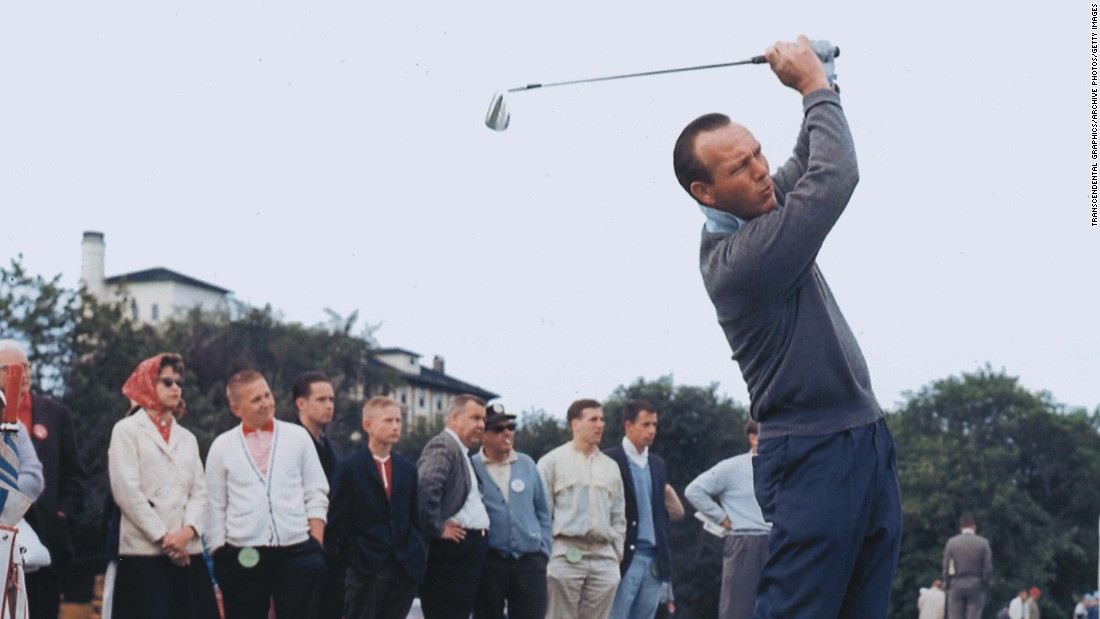 "Golfing legend Arnold Palmer, who helped turn the sport from a country club pursuit to one that became accessible to the masses, <a href=""http://www.cnn.com/2016/09/25/us/arnold-palmer-death/index.html"">died Sunday at the age of 87</a>, according to the U.S. Golf Association."