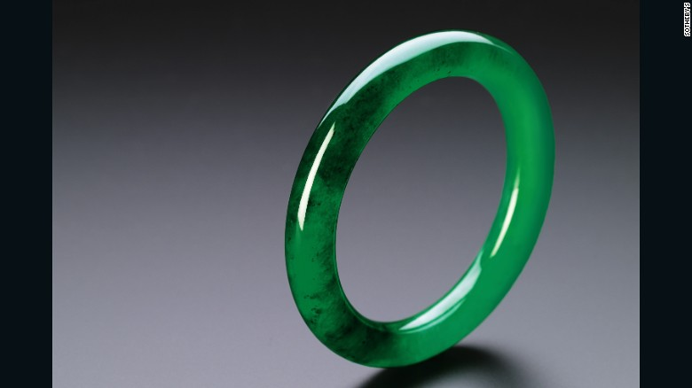 This simple jadeite bangle is expected to fetch between HK$50 to $70 million ($6.5 to $9 million) when it goes under the hammer.