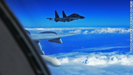The Chinese Air Force sent more than 40 aircraft to the West Pacific near the Japanese island of Okinawa on Sunday, for what state-media called routine drills on the high seas. The fleet included H-6k bombers, Su-30 fighters and air tankers. Japan scrambled a fighter jet as 8 Chinese planes flew over the Miyako Strait.