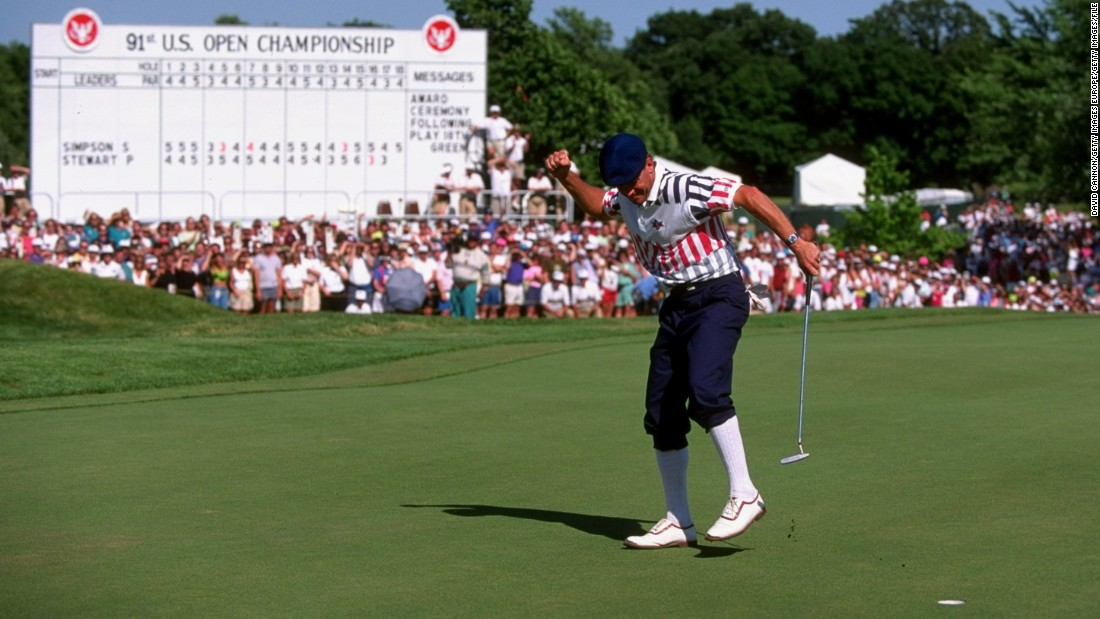 American Ryder Cup star Payne Stewart won that major, 21 years after future Europe team captain Tony Jacklin of Britain won Hazeltine's first US Open.