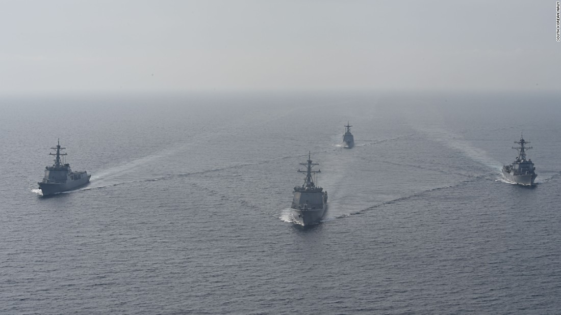 US, S. Korean missile destroyers, subs send message to North