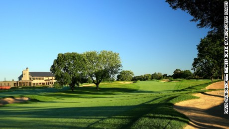 CHASKA, MN - AUGUST 11:  The 475 yards par 4, 9th hole (which normally plays as the 18th hole) at Hazeltine National Golf Club the host venue for the 2016 Ryder Cup Matches on August 11, 2015 in Chaska, Minnesota.  (Photo by David Cannon/PGA of America via Getty Images)