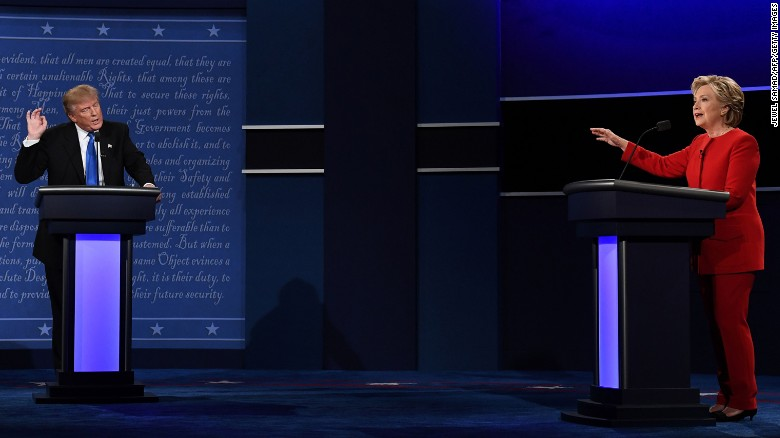 Clinton, Trump clash in first debate