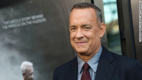"""Actor Tom Hanks attends the screening of The Warner Bros. Pictures """"Sully"""" in West Hollywood, California, on September 8, 2016."""