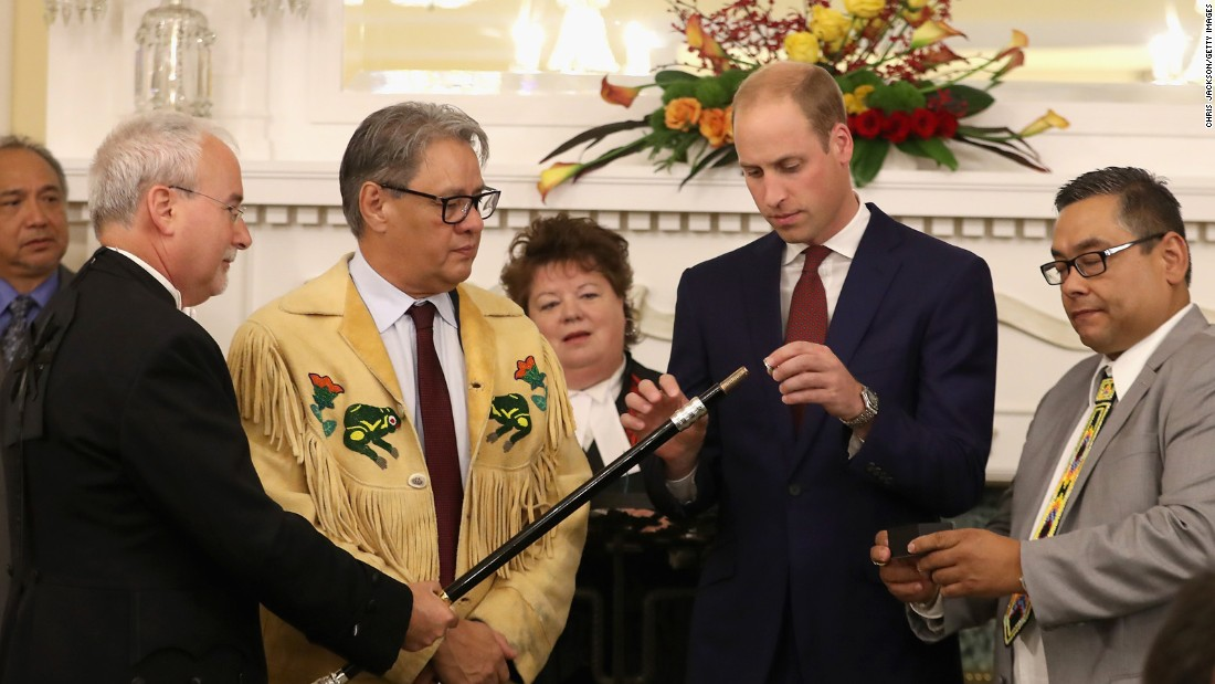 William joins in the Black Rod ceremony at the British Columbia Government House on September 27.