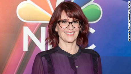 Megan Mullally arrives for the 2016 Winter TCA Tour - NBCUniversal Press Tour at Langham Hotel on January 13, 2016 in Pasadena, Californi  (Photo by Gabriel Olsen/FilmMagic)