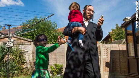An Orthodox Jewish community is leaving their overcrowded, north London neighborhood to put down new roots in flood-prone Canvey Island, where the Thames River meets the sea.