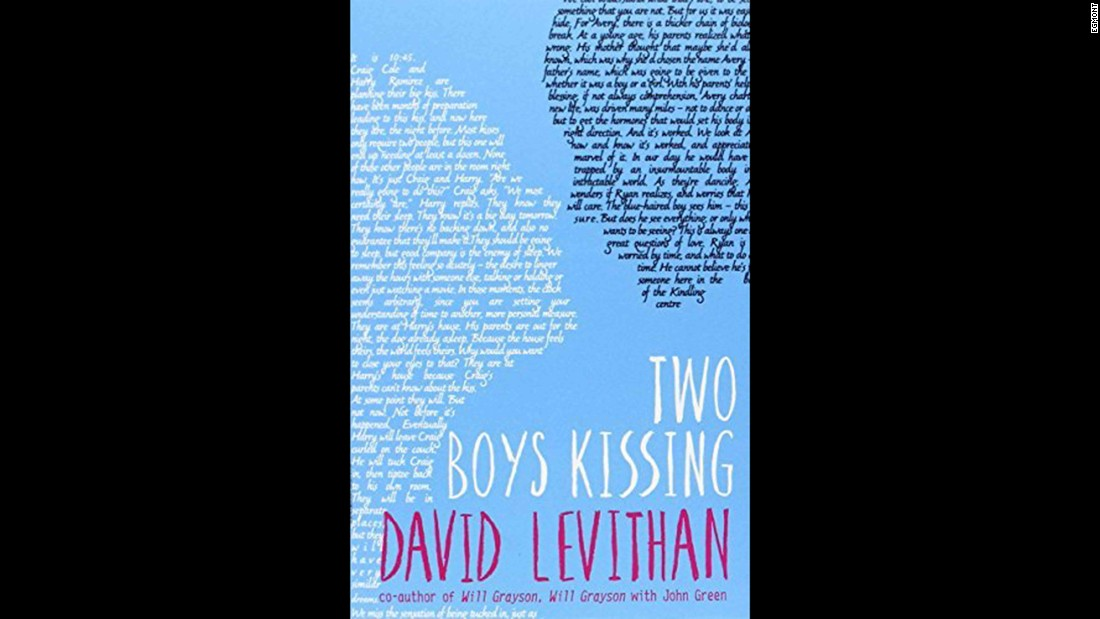 """As the title suggests, """"Two Boys Kissing"""" is about two boys trying to set a new world record for kissing. It was challenged for homosexuality and because it """"condones public displays of affection."""""""