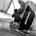 Carlo Borlengi sailing boat keeled over