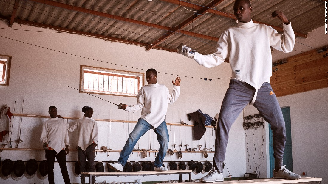 """But Robin insists """"It's about building relationships of trust, in a neutral space, between jailed minors and adults, from whom they have often felt a sense of betrayal.""""  For example, 17-year-old Daouda says, """"[fencing] teaches you to have an open heart. When you have won you must go up to your opponent and you give your hand and shake."""" He adds, """"The competitors respect you.""""<br />"""