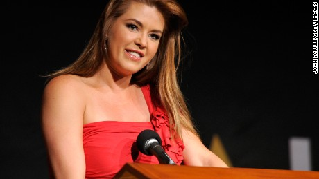 Actress Alicia Machado speaks onstage during the NALIP 2016 Latino Media Awards at Dolby Theatre on June 25, 2016 in Hollywood, California.