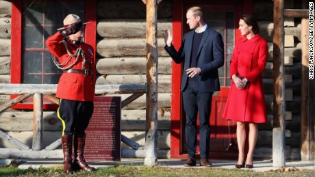 Catherine, Duchess of Cambridge and Prince William, Duke of Cambridge leave McBride Museum during the Royal Tour of Canada on September 28, 2016 in Whitehorse, Canada.