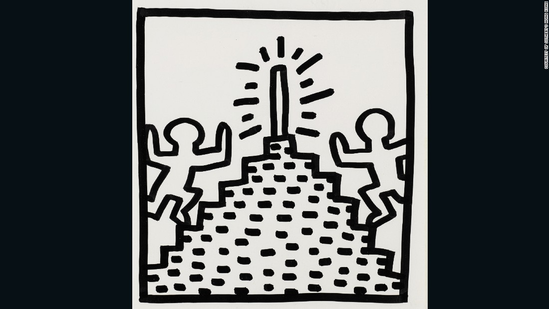 The auction includes a collection of 23 works by American graffiti artist and sculptor, Keith Haring, all of which display a variety of his unique visual vocabulary.
