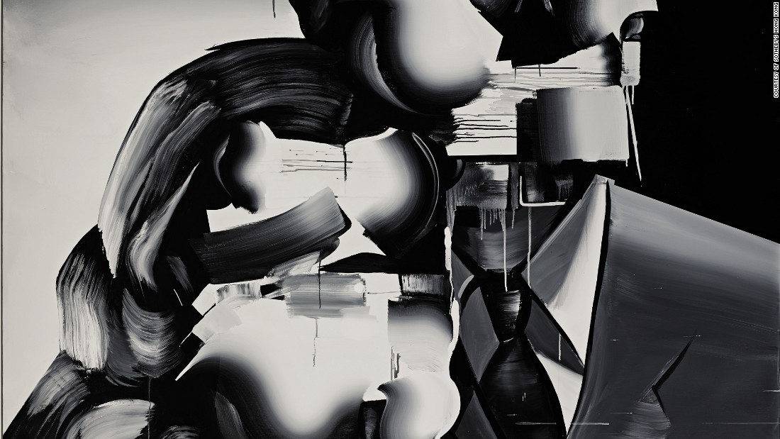 This work, by Japanese artist Gokita Tomoo, is a mixture of pop art, Surrealism, Cubism, Neo-Expressionism and Japanese graphic design.