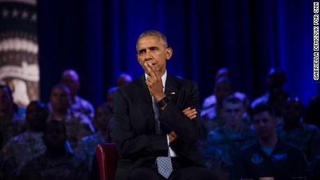 President Barack Obama at CNN's Town Hall in Fort Lee, Virginia, Wednesday, September 28.