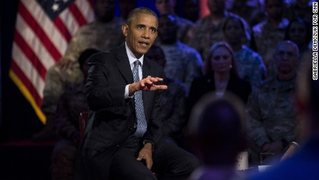 President Barack Obama at CNN's Town Hall in Fort Lee, Virginia, Wednesday, September 28.