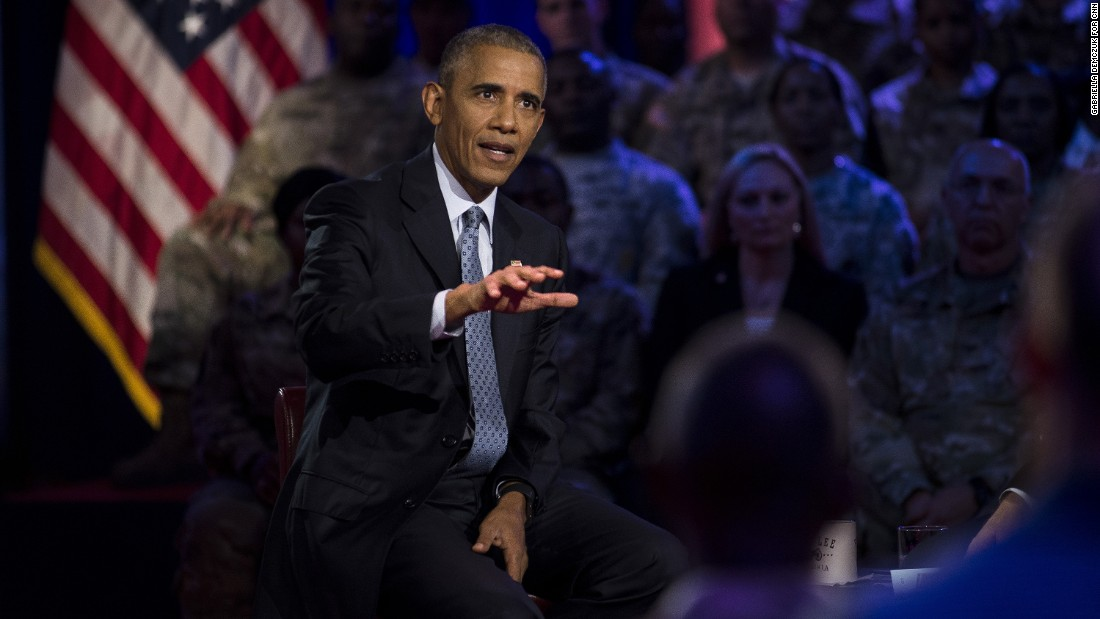 Obama discussed issues related to the military and national security.