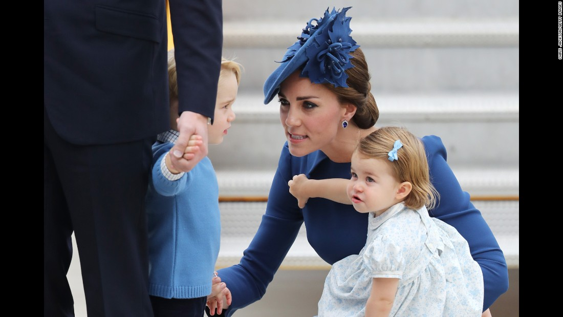 "Catherine, Duchess of Cambridge, arrives in Victoria, British Columbia, with her husband, Prince William, and their children Prince George and Princess Charlotte on Saturday, September 24. The British royals are on <a href=""http://www.cnn.com/2016/09/24/world/gallery/royals-visit-canada-sept-2016/index.html"" target=""_blank"">an eight-day tour of Canada.</a>"