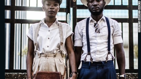 Andile Biyana and Lourens Gebhardt -- In Sync, 2014, by Harness Hamese.