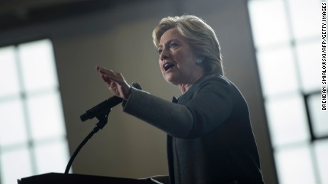 Democratic presidential nominee Hillary Clinton speaks during an event at University of New Hampshire September 28, 2016 in Durham, New Hampshire.