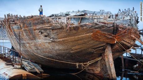 The Maud, a ship once belonging to famed arctic explorer Roald Amundsen