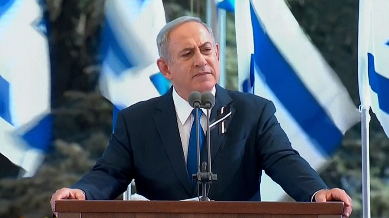 "Israeli Prime Minister Benjamin Netanyahiu paid tribute to Peres who he called ""a great man of Israel."""