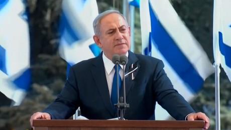 "Israeli Prime Minister Benjamin Netanyahiu paid tribute to Peres who he called ""a great man of Israel."""