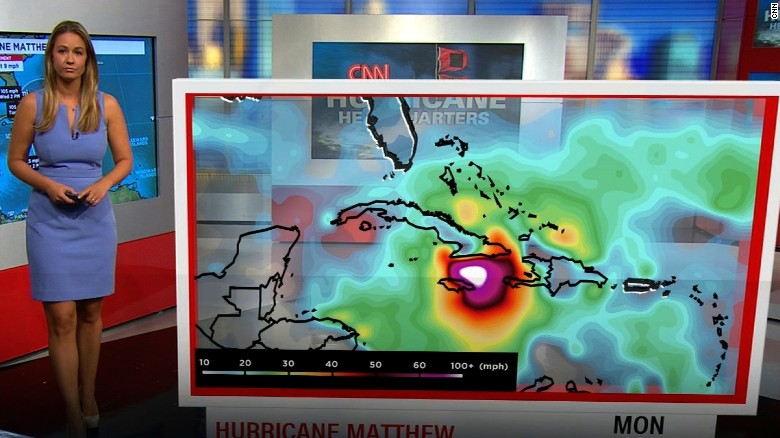 Hurricane Matthew strengthens