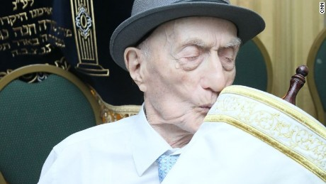 Yisrael Kristal says he doesn't know the secret for such a long life.