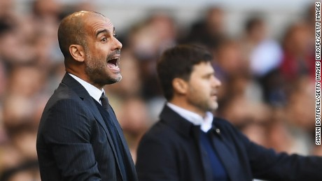 Pep Guardiola saw his Manchester City team slip to a first defeat of the season at the hands of Mauricio Pochettino's Tottenham Hotspur.
