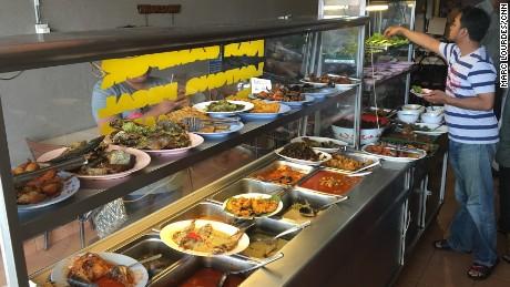 Restoran Minang Salero, in the inner city suburb of Sentul.