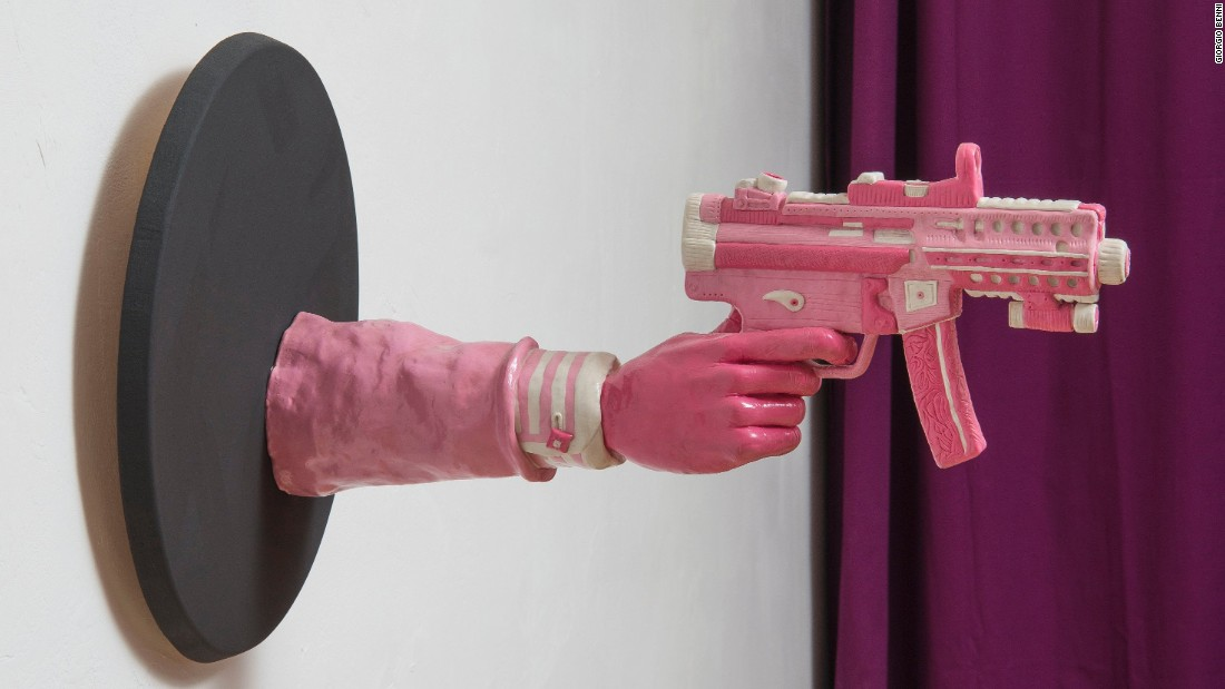 Italian sculptor Maurizio Savini has turned chewing gum into an art form, shaping pounds of the sticky stuff into satirical and politically-engaged works. In an ironic turn his sculptures have gone on display at the Partners & Mucciaccia gallery in Singapore, possibly the most gum-averse place in the world.