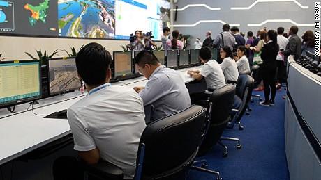 Yinchaun's command center oversees a range of data.