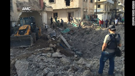 The M10 hospital in Aleppo was bombed for the third time Monday.