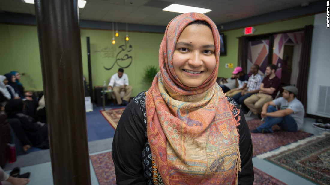 """Ipsita Salim, 24, student at Dakota State University. Born in Bangladesh and came to the U.S. when she was 3. <br /><br />""""I think being a Muslim in northern Virginia is probably a little bit easier than being a Muslim maybe some place else just because this area, it is very diverse. There's a comparatively larger concentration of Muslims here than there are in I'd say in other places. You really feel that once you even go maybe twenty miles, thirty miles out of this area. I always joke with my family that, 'Hey, guys we can never move anyplace else.' It's one of those bittersweet jokes."""""""
