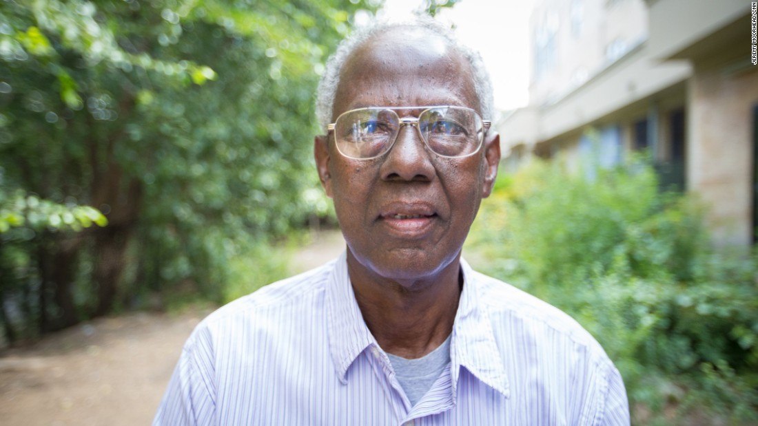 """Shirwa Hassan Jipril, born in Somalia, granted settlement status by the U.S. government in 2007, retired. Supporting Hillary Clinton.<br /> <br />""""American people... They are mostly compassionate people. They are friendly people. They are welcoming people... Some people don't understand. They understand that Muslims are violent people. That they are killers. That they support terrorists. Some people believe that. Most Muslims are not as they are being seen by many people."""""""