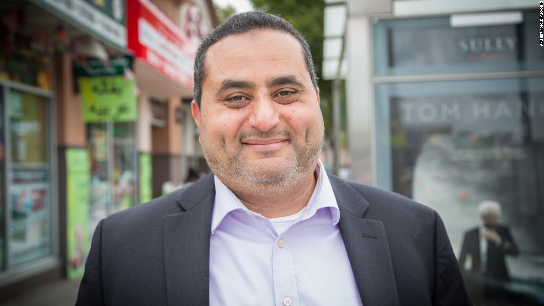"""Hesham El-Melingy, born in Egypt, lives on Staten Island. Co-founder of the founder of the Islamic Civic Association of Staten Island, ran for New York City Comptroller in 2013 as a Libertarian. <br /><br />""""We're between a rock and a hard place, Hillary with her records and Trump with his rhetoric, but most people are afraid of the rhetoric unfortunately more because Hillary didn't do something bad actually against them."""""""