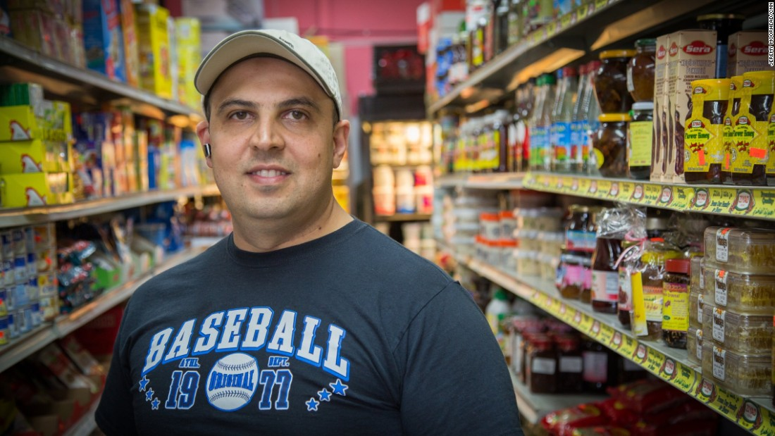 """Tarek Wazzan, 41, born in Egypt, came to the U.S. in the 1990s, lives on Staten Island. Supported President Barack Obama twice, this year will probably vote for the Libertarian candidate. <br /><br />""""I don't take what he says seriously. What bothers me is what people who are listening to him are doing now, with what we're seeing, attacks on Muslims, people dying, you know. The effects of his words."""""""